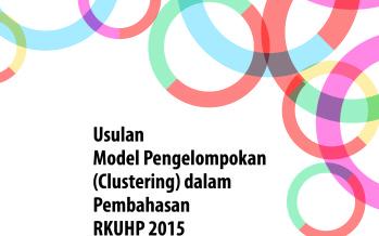 Usulan Model Pengelompokan (Clustering) dalam Pembahasan R KUHP 2015