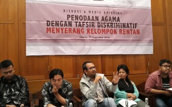 Penodaan Agama dengan Tafsir Diskriminatif Menyerang Kelompok Rentan dan Harus Segera Dihapuskan