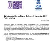 ICJR & PRI Policy Brief: EU – Indonesia Human Rights Dialogue