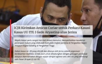 ICJR Hormati Putusan Kasasi Jerinx: Mahkamah Agung Harus Juga Ambil Peran atasi Masalah Norma UU ITE