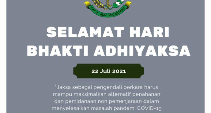 Hari Kejaksaan: Jaksa sebagai Pengendali Perkara Harus Mampu Atasi Masalah Pandemi COVID-19 di Peradilan Pidana