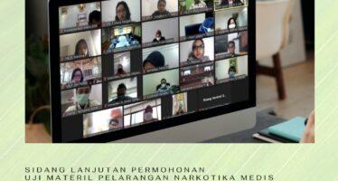 Sidang Lanjutan Permohonan Uji Materil Pelarangan Narkotika Medis untuk Pelayanan Kesehatan: DPR Minta Pemerintah Tindak Lanjuti dengan Penelitian Ilmiah, Pemerintah Keukeuh Tolak Permohonan