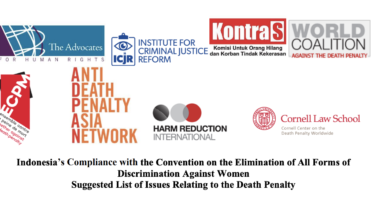 ICJR Submission on the Death Penalty in Indonesia to The CEDAW committee
